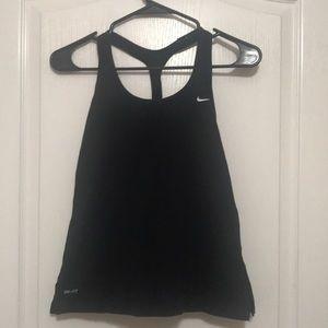 Nike Black workout tank top small